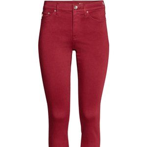 H&M Shaping Skinny Red Jeans